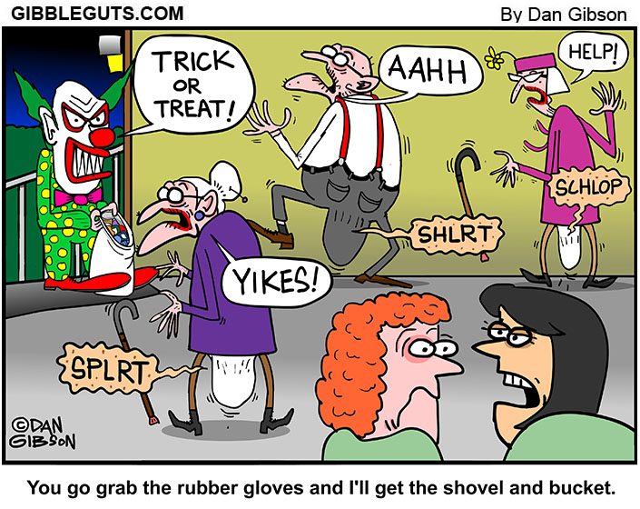halloween old people scare