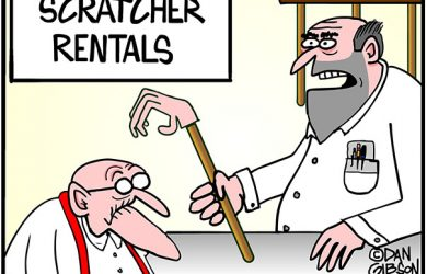 hemorrhoid scratcher cartoon