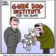 Seeing Eye Dog Cartoon