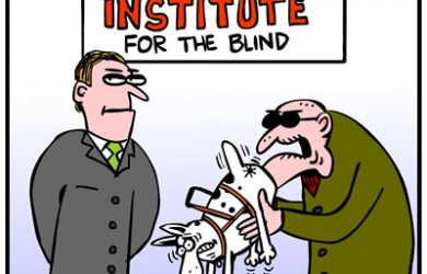 Seeing Eye Dog Cartoon