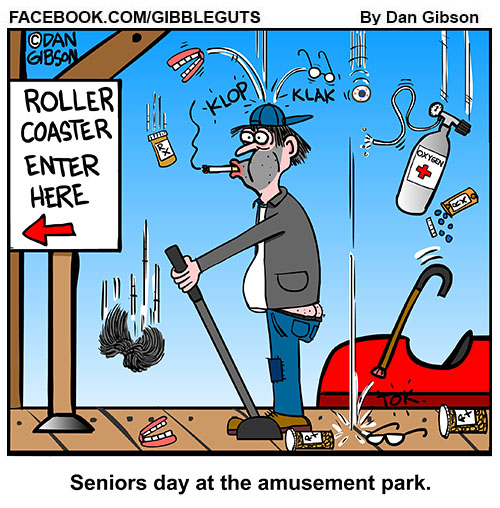 seniors day cartoon