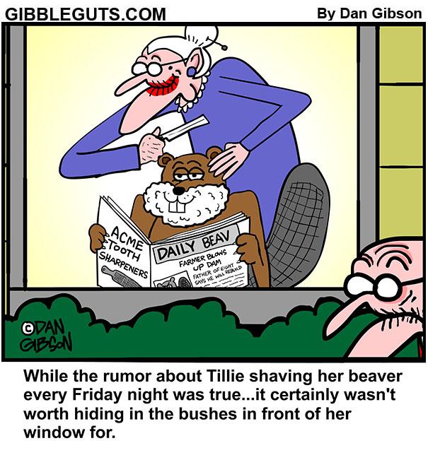 tillie's beaver cartoon