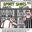 shoe shopping cartoon