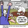 tillies deaf dog cartoon