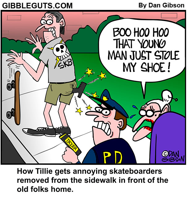annoying skateboarder cartoon