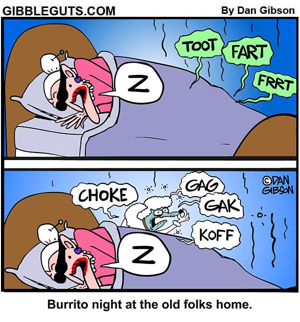 burrito night cartoon