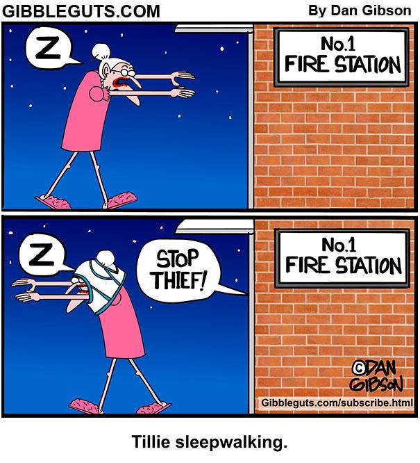 sleepwalking tillie cartoon