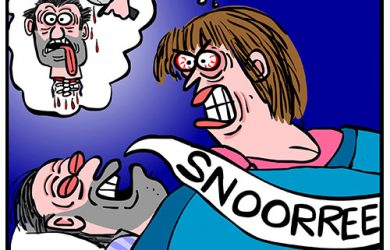 snoring cartoon