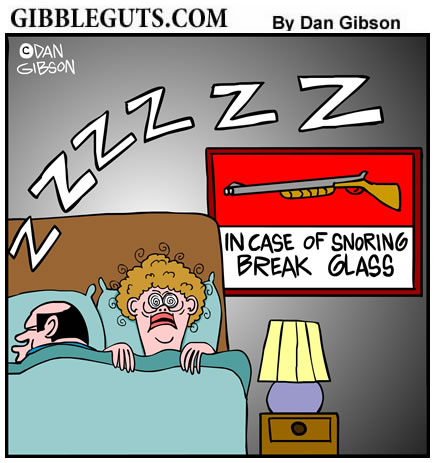 snoring cartoons by Gibbleguts.com