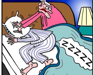 snoring cartoon