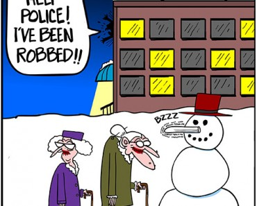 snowman old lady cartoon