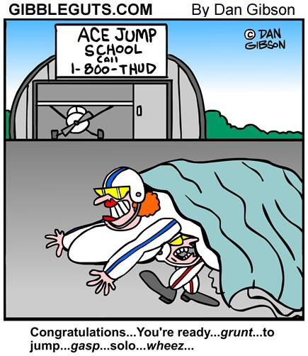 jump school cartoon from Gibbleguts.com