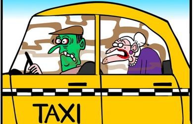 Out of control seniors cartoon