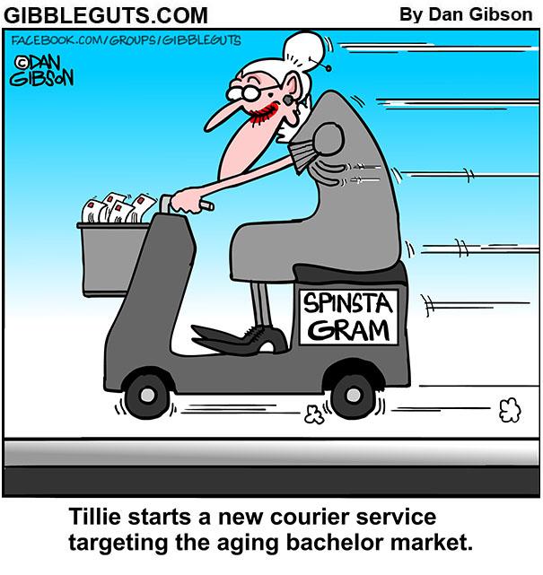 spinster gram cartoon