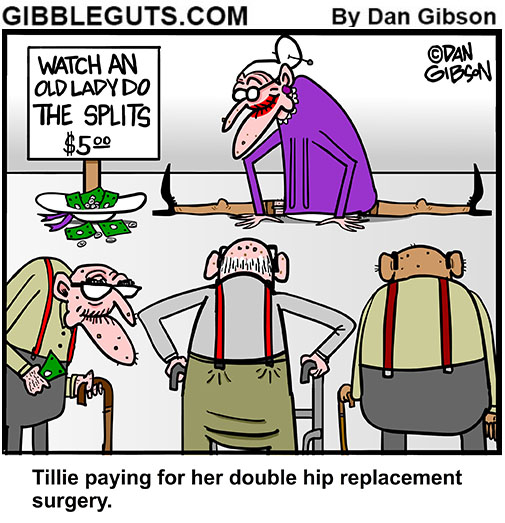 hip replacement cartoon