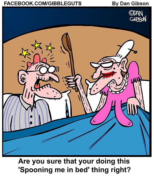 spooning old people cartoon