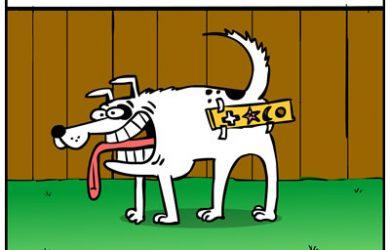 Stencil dog cartoon