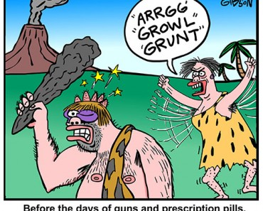 caveman suicide cartoon
