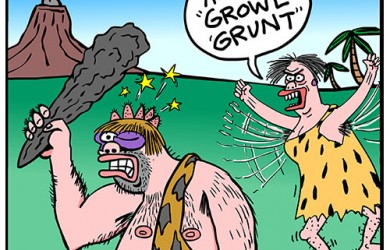 caveman suicide cartoon