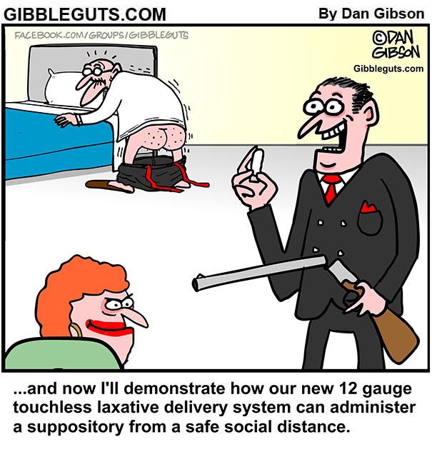 suppository gun cartoon