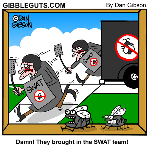 SWAT team cartoon
