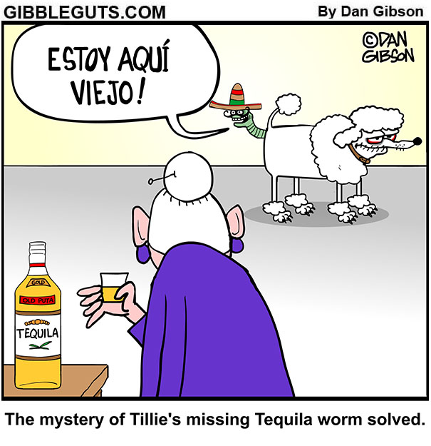 tequila worm comic