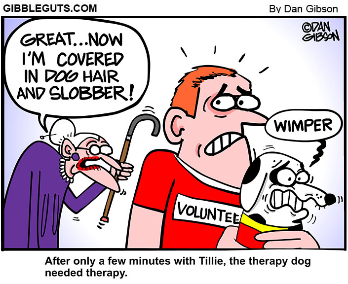 therapy dog cartoon