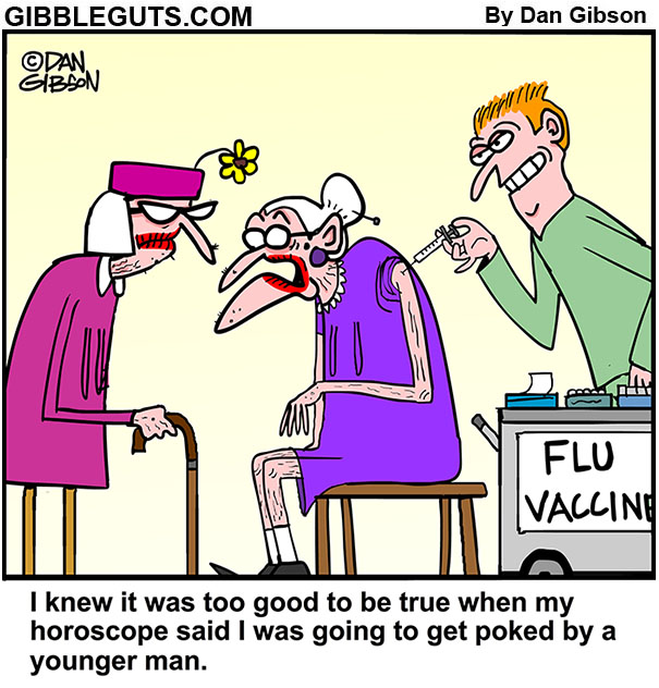 flu shot cartoon