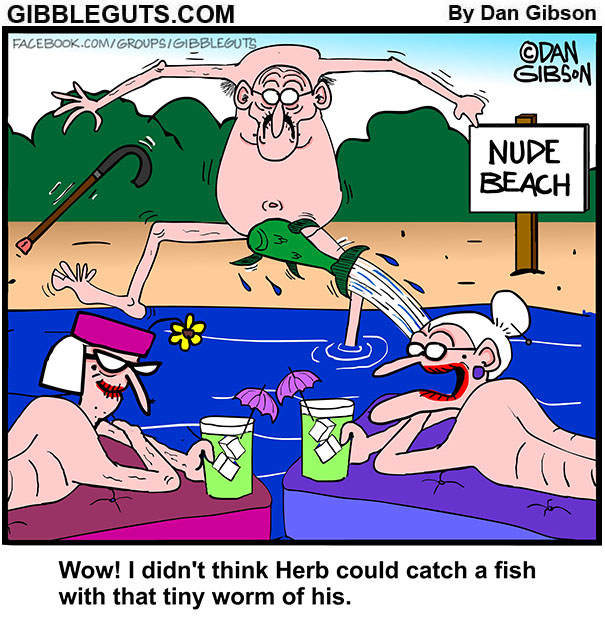 herb goes fishing cartoon