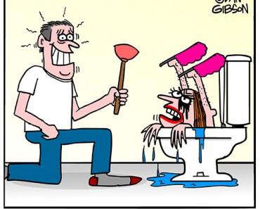 toilet seat lid cartoon