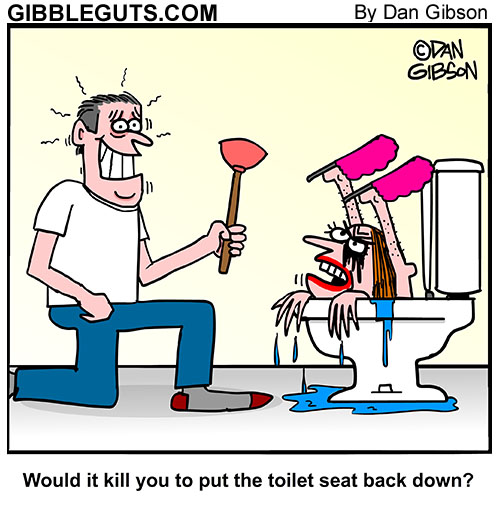 toilet seat lid cartoon
