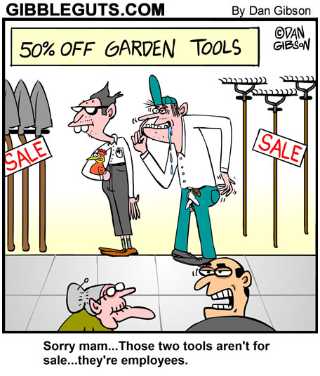 garden tools cartoon