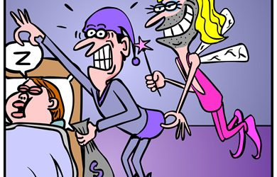 Tooth ferry Cartoon