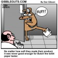 toilet paper dog cartoon