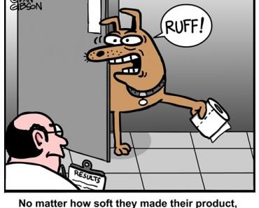toilet paper dog cartoon