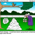 bird in park cartoon