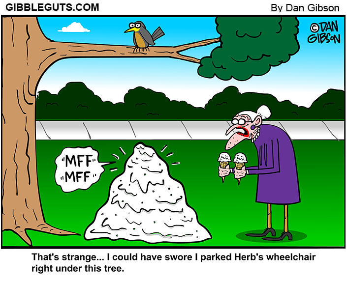 bird in park cartoon