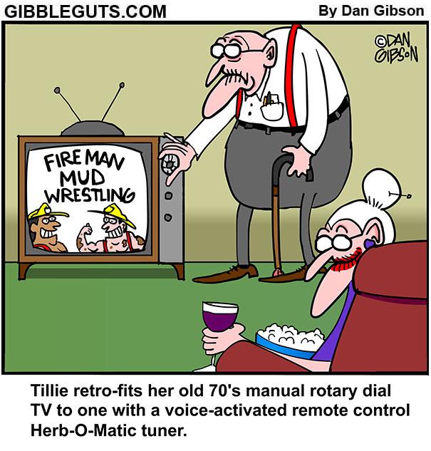 tv remote cartoon