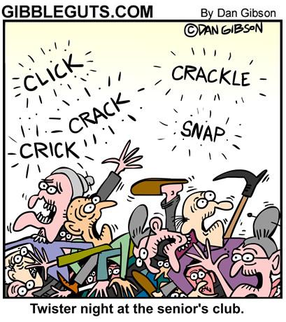 seniors cartoon