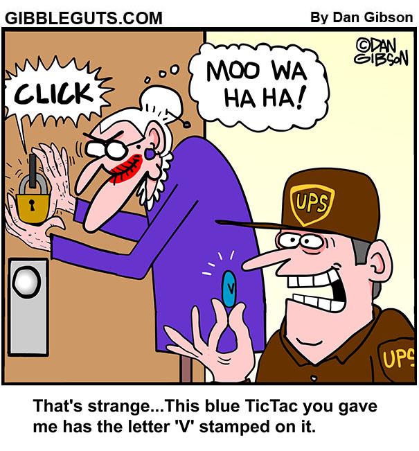 blue tic tacs cartoon