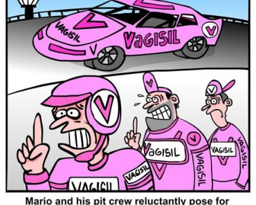 Nascar Race Team Cartoon