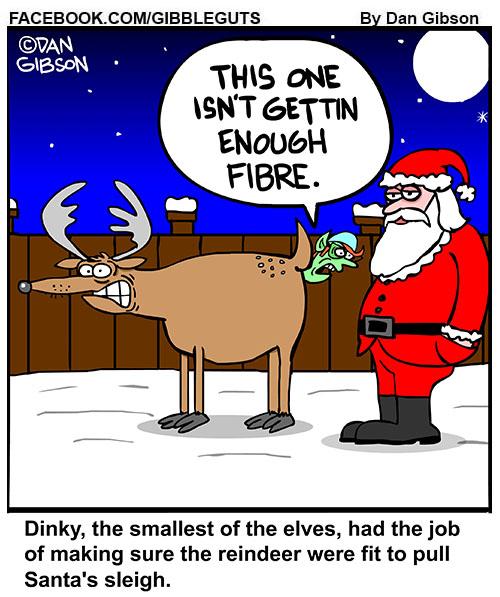 reindeer elves cartoon