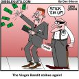 viagra bandit stickup cartoon