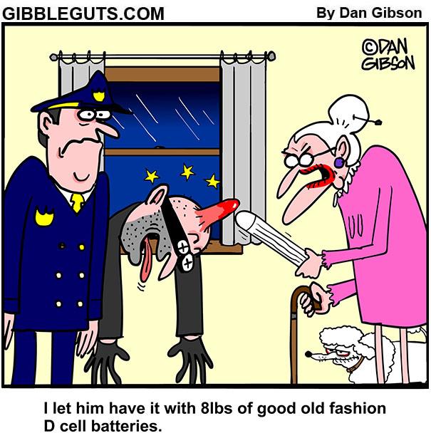burglar beatdown cartoon