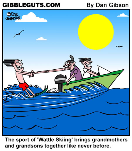 Water Skiingcartoon from Gibbleguts.com