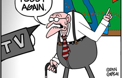 old weatherman cartoon