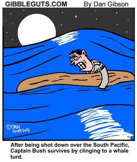 Survival at sea cartoon from Gibbleguts.com