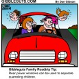 famoily roadtrip cartoon