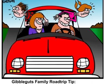 famoily roadtrip cartoon