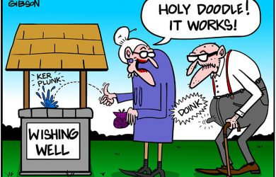 wishing well cartoon